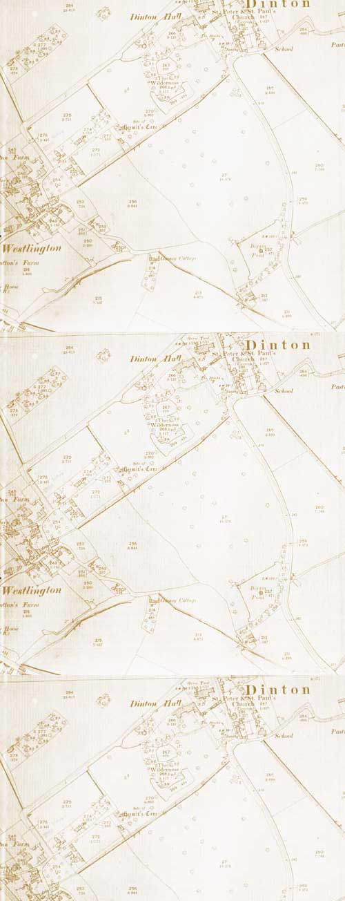 Map of Dinton